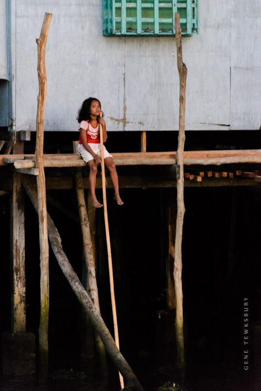 A young girl in TayTay Palawan Philippines.