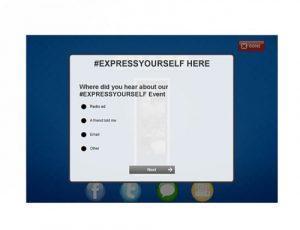 Custom surveys for attendees