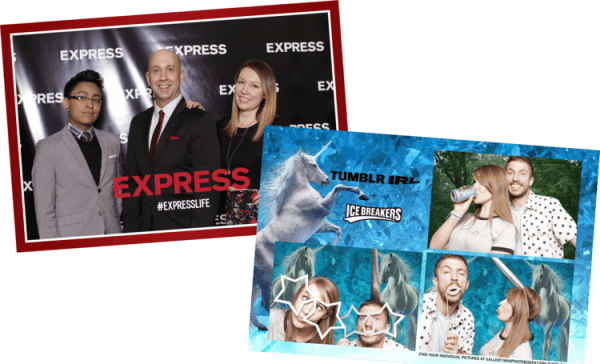 Event Photo Booths custom print overlays