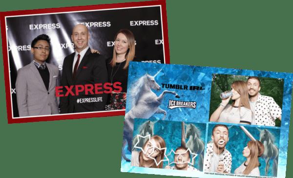 Event Photo Booths custom print overlays
